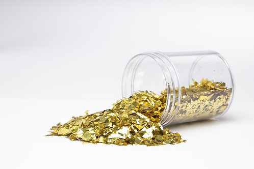 F24 Gold Synthetic Mica Flake ≤15mm