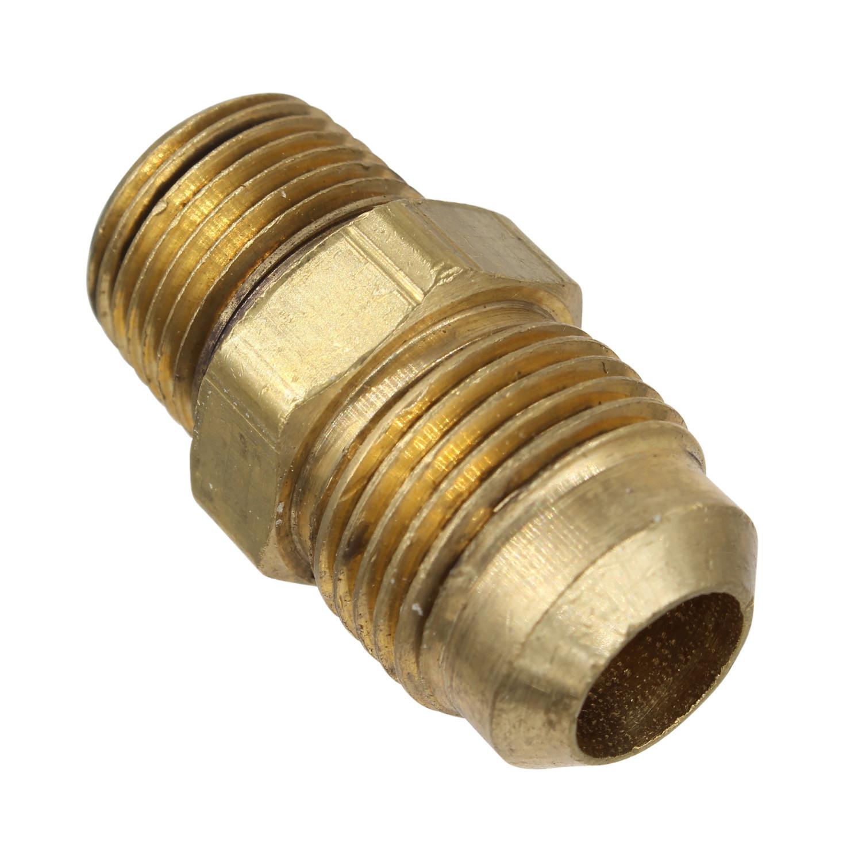 Inv Edelmann 39859 Power Steering Line End Fitting; 3//8 M Flare x 3//8 Beaded Tube 45 degree
