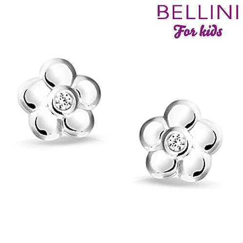 575014 Bellini zilveren oorknoppen bloem