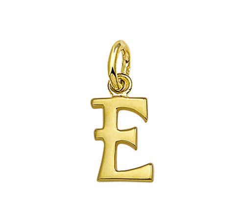215895 Geelgouden hanger letter glad E