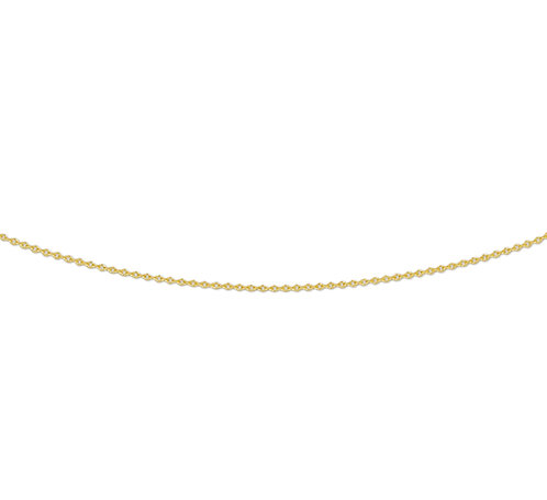 214797 Geelgouden anker collier 0.8mm 41-43-45cm