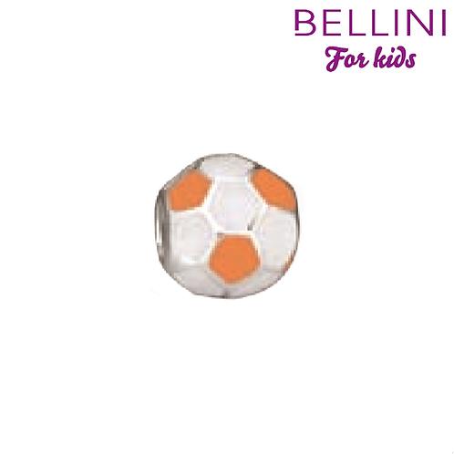 567459 Bellini zilveren bedel voetbal wit-oranje