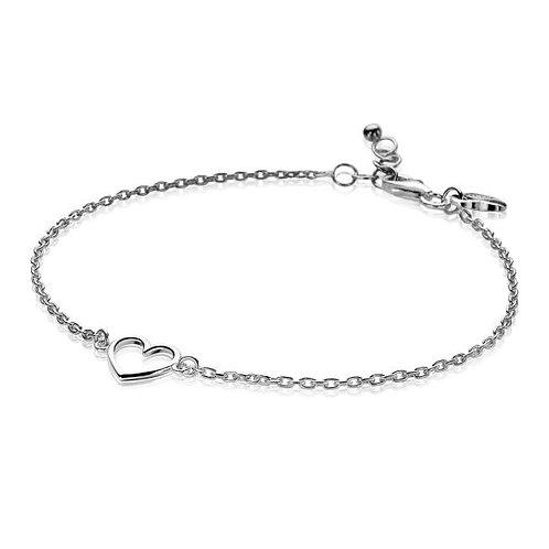 ZIA1420 ZINZI Zilveren armband met open hartje