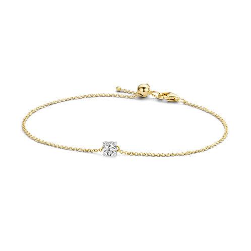 2166BZI Blush armband geelgoud zirconia