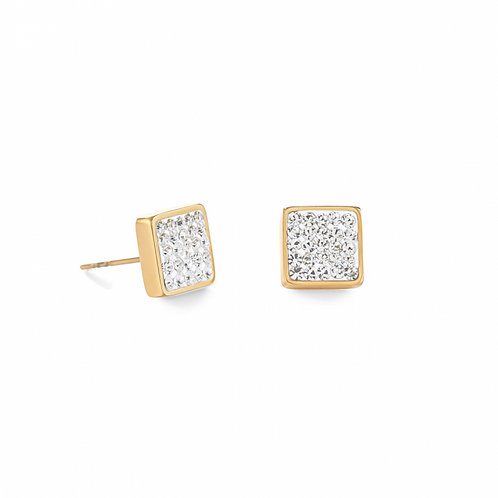 0317-21-1800 Coeur de Lion oorstekers vierkant crystal