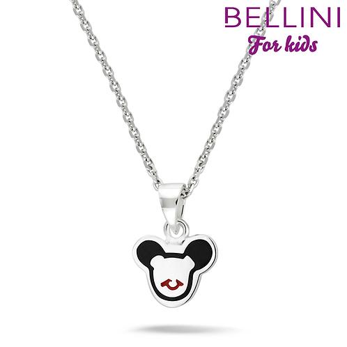 574034 Bellini zilveren collier met hanger Mickey Mouse