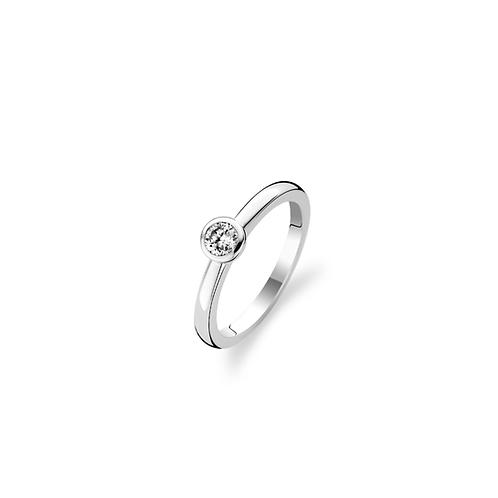 1868ZI Ti Sento zilveren ring met zirconia