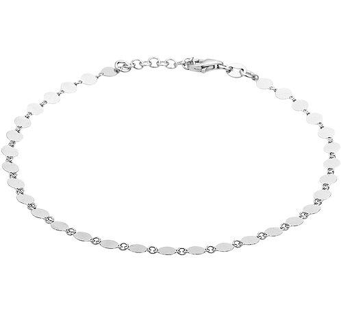 214799 Zilveren enkelbandje 24-26cm