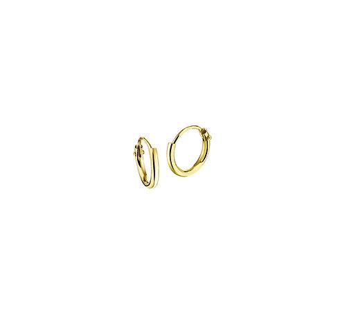 25610012 Geelgouden oorringen 9mmx1.3mm