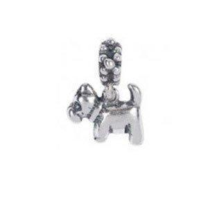 568014 Bellini zilveren bedel hondje hangend