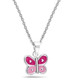 574011 Bellini zilveren collier met hanger Vlinder rose