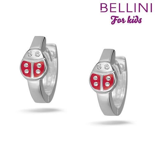 575102 Bellini zilveren creolen lieveheersbeestje