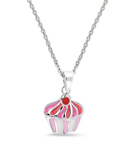 574010 Bellini zilveren collier met hanger Cupcake
