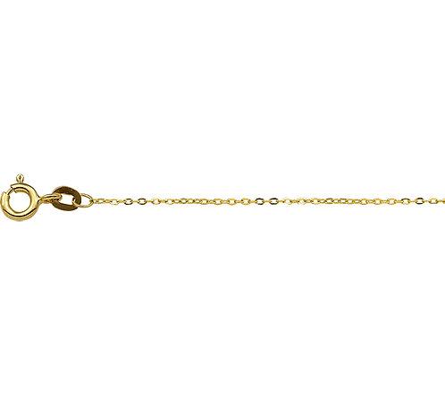 214798 Geelgouden anker collier 1.0mm 41-43-45cm