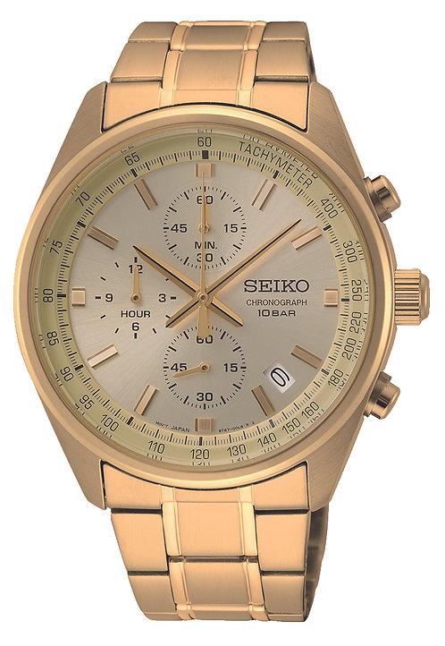 SSB382P1 Seiko heren chronograaf double champagne