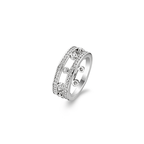 1977ZI Ti Sento zilveren ring met zirconia