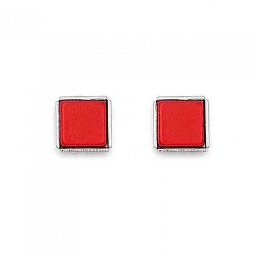 0021-21-0300 Coeur de Lion oorstekers vierkant rood