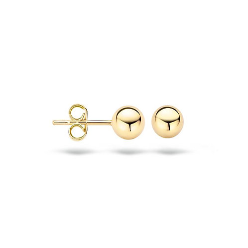 7122YGO Blush oorstekers geelgoud bolletjes 5mm