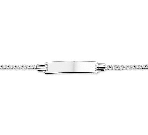 400006 Zilveren plaatband gourmette glad 11-13cm