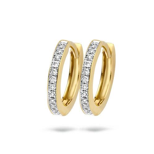 7612BDI Blush oorringen Diamonds geelgoud 0.05ct