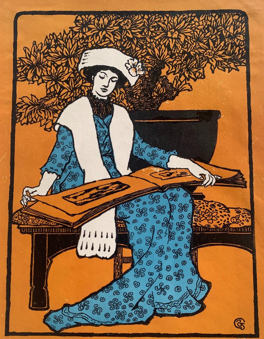 Estampe de l'Art Nouveau - Galerie Le Tout Venant