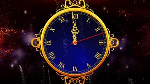 Happy New Years Clock