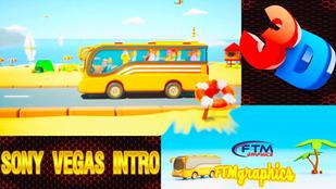 3D Touristic Bus Logo Reveal