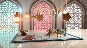 Ramadan Greeting Video 3D Book 2 VErsions