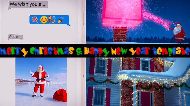 3D Merry Christmas & Happy New Year