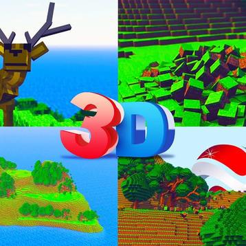 3D Minecraft Logo Reveal