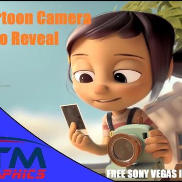 3D Cartoon Camera Logo reveal