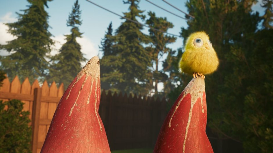 'Sherman,' the new short from Unity. Yes, Sherman is the bird, not the raccoon.