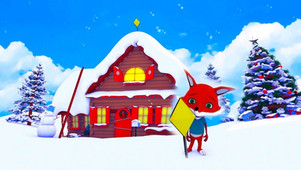 Cute Foxy Greeting Video - merry christmas and happy new year 2021