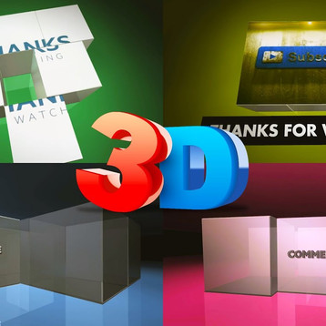 3D Cube Outro Template no Text