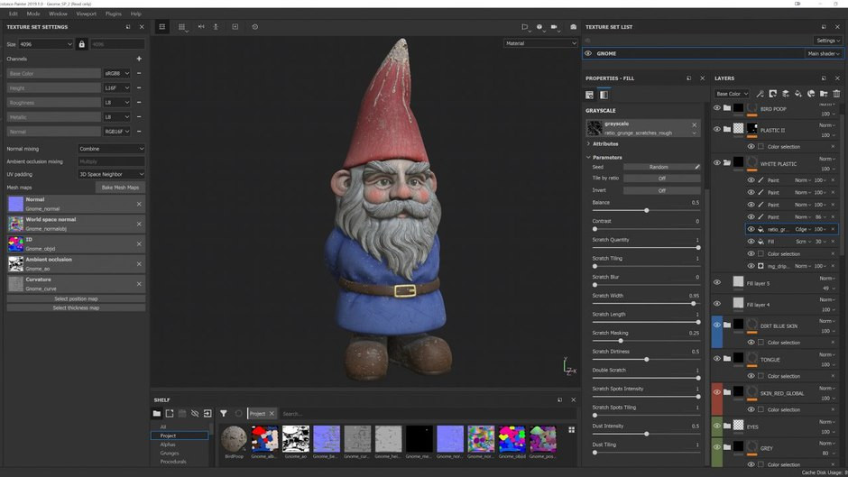 The Gnome in Substance Painter.