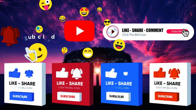 YouTube 2D/3D Subscribe Buttons