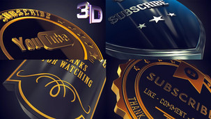 3D Badge Outros Pack