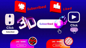 3D YouTube Subscribe button reminder