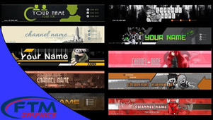 YouTube Banners Pack PSD