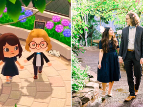 Unable to marry, this couple recreates their engagement on Animal Crossing