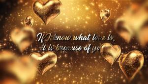 Happy Valentines Gold II