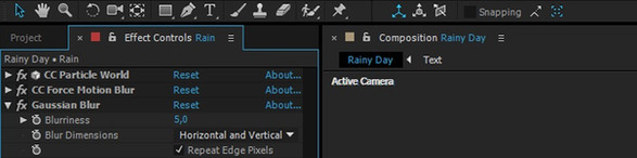 After Effects Tutorial - Create a Rainy Scene Animation Using Default After Effects Plugins