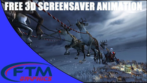 3D FHD Santa Claus Screensaver Animation