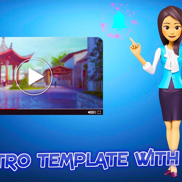 Outro Template 3D with Jessica