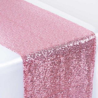Sequin Table Runner  Pink