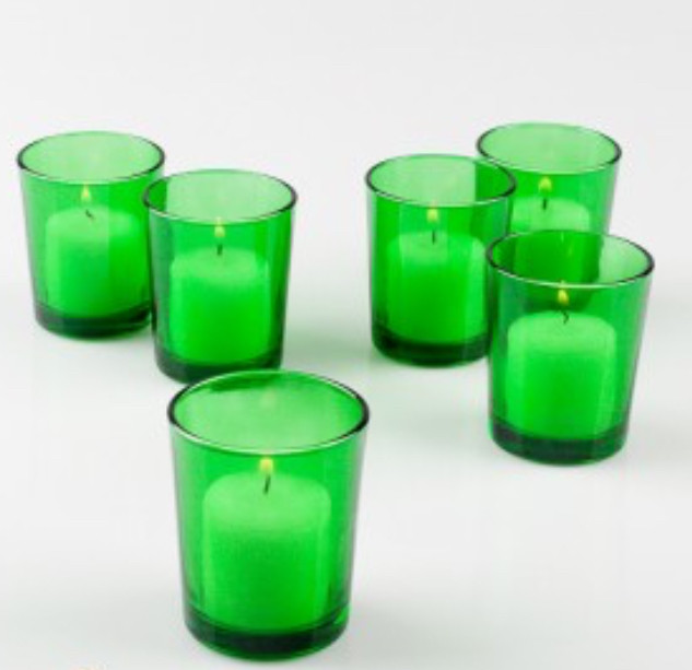 Glass Votive Holder 3 inch Emerald Green
