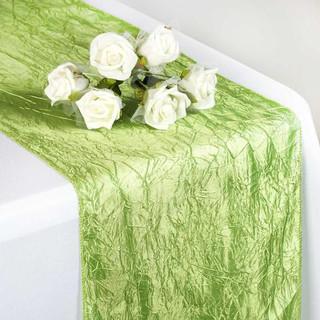 Taffeta Crinkle Runner Apple Green