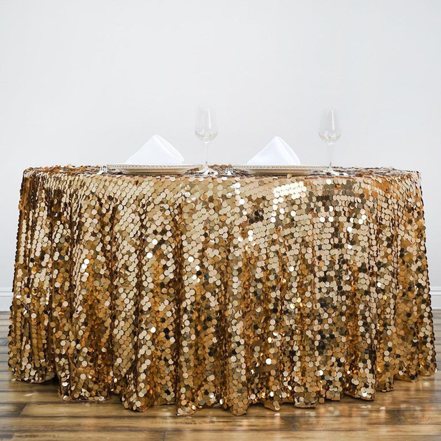 Payette Sequin Tablecloth Gold