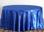 Satin Round Tablecloth Royal Blue