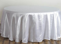 Satin Round Tablecloth White